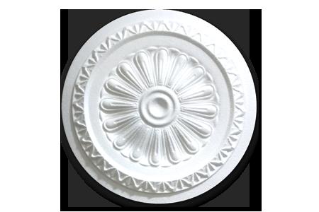 HOMESTAR/® Pack 2x Rosetones de Techo | Pared Decorativos en Poliestireno Poliespan con acabado blancoR15 yR18 + 1 Adhesivo 300ml :
